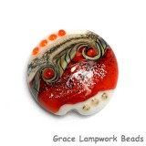 11831102 - Fire Red Stardust Lentil Focal Bead