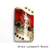 11831103 - Fire Red Stardust Kalera Focal Bead