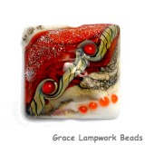 11831104 - Fire Red Stardust Pillow Focal Bead