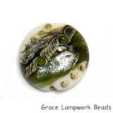 11831202 - Olive Stardust Lentil Focal Bead