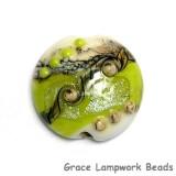 11831702 - Lime Stardust Lentil Focal Bead