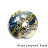 11831902 - Sweet Blue Stardust Lentil Focal Bead