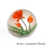 11832202 - Vermilion Flower Lentil Focal Bead