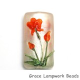 11832203 - Vermilion Flower Kalera Focal Bead