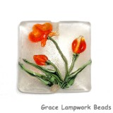 11832204 - Vermilion Flower Pillow Focal Bead
