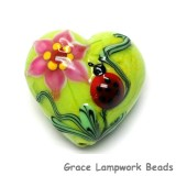 11833125 - Ladybug on Spring Green Heart (Large)