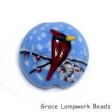 11833202 - Red Cardinal Lentil Focal Bead