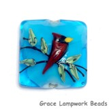11834504 - Summer Red Cardinal Pillow Focal Bead
