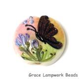 11834802 - Pink Sparkle Garden Butterfly Lentil Focal Bead