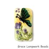 11834903 - Green Sparkle Garden Butterfly Kalera Focal Bead