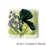11834904 - Green Sparkle Garden Butterfly Pillow Focal Bead