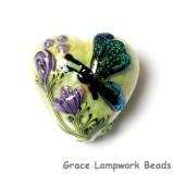 11834905 - Green Sparkle Garden Butterfly Heart
