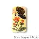11835103 - Yellow Sparkle Garden Butterfly Kalera Focal Bead
