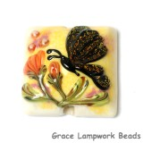 11835104 - Yellow Sparkle Garden Butterfly Pillow Focal Bead