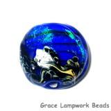 11836402 - Sapphire Sea Shimmer Lentil Focal Bead