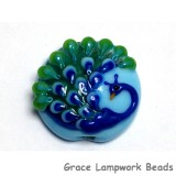 11837102 - Blue Peacock Lentil Focal Bead