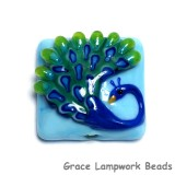 11837104 -Blue Peacock Pillow Focal Bead
