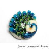11837202 - Pretty Peacock Lentil Focal Bead