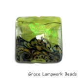 11837304 - Spring Green Shimmer Pillow Focal Bead