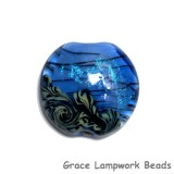 11837502 - Arctic Blue Shimmer Lentil Focal Bead