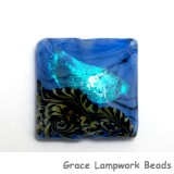 11837504 - Arctic Blue Shimmer Pillow Focal Bead