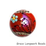 11837602 - Vintage Florals Lentil Focal Bead