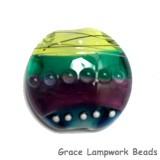 11837702 - Begonia Stripes Lentil Focal Bead