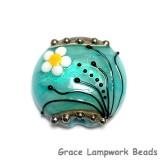 11838602 - Seafoam Florals Lentil Focal Bead