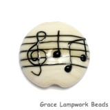 11838802 - Musical Notes Lentil Focal Bead