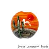 11839402 - Cactus Sunset Lentil Focal Bead
