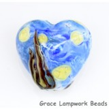 The starry night glass heart