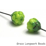 GHP-05: Lime Green Floral Headpin