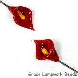 GHP-21: Red Calla Lily Floral Headpin