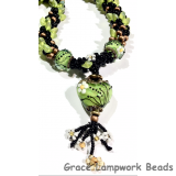 LC - Necklace with 11838505 Spring Green Florals Heart