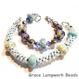 LC - Bracelet with 11600601 D  Seven Ivory w/Turquoise Rondelle Beads