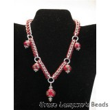 LC-10704211 - Regal Red Metallic Necklace