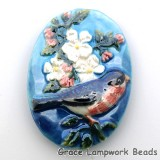 PR053040 - 30x40mm Porcelain Puffed Oval Bird #5