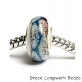 SC10016 - Large Hole Ivory/Black/Blue Free Style Rondelle Bead
