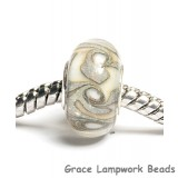 SC10018 - Large Hole Ivory w/Crystal Clear Rondelle Bead