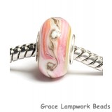 SC10022 - Large Hole Pink w/Beige & Ivory Rondelle Bead