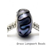 SC10033 - Large Hole Purple Pearl Surface w/Black Rondelle Bead