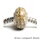 SC10035 - Large Hole Ivory w/Silver Rondelle Bead