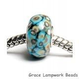 SC10043 - Large Hole Turquoise w/Dots Rondelle Bead