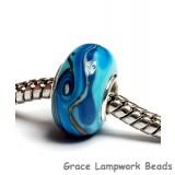 SC10047 - Large Hole Turquoise/Light Blue Twist Rondelle Bead