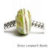 SC10051 - Large Hole Transparent Green w/Ivory Rondelle Bead