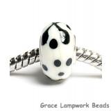 SC10054 - Large Hole Ivory w/Black Rondelle Bead