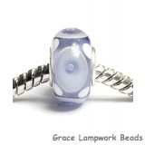 SC10056 - Large Hole Ink Blue w/White Rondelle Bead