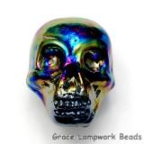 Skull01 - Rainbow Luster Focal Bead