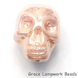 Skull03 - Pink Luster Focal Bead