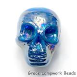 Skull05 - Azure Luster Focal Bead